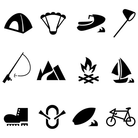 surfing the net: Outdoor icon set
