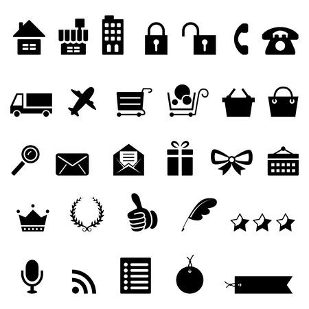 picked: Shopping icon set