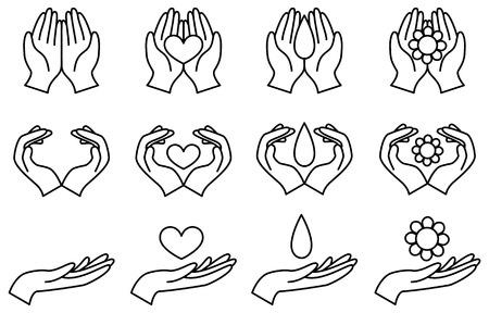 Hand illustration set