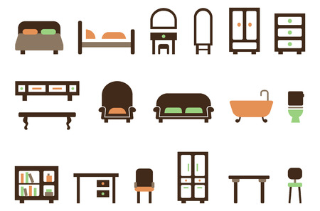 furniture: Furniture icon set