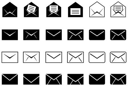 correo electronico: Conjunto de iconos de correo electrónico