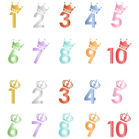 numbering: Numbers Crown set