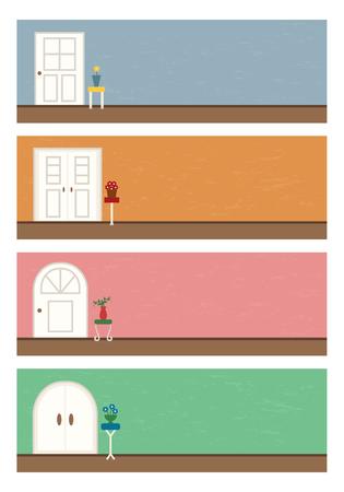 pastel colour: Door door background set