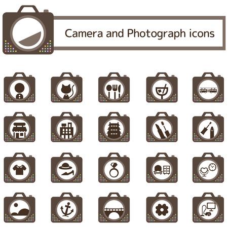 カメラ写真アイコンを設定 写真素材 - 53525929