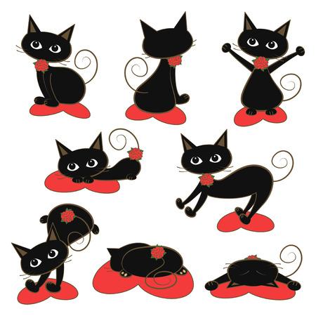 humbled: Feline illustration set