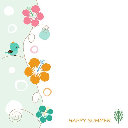 midsummer: Hibiscus Tri background