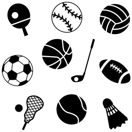 Ball icons set