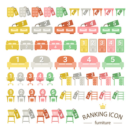 set going: Furniture ranking icon sets