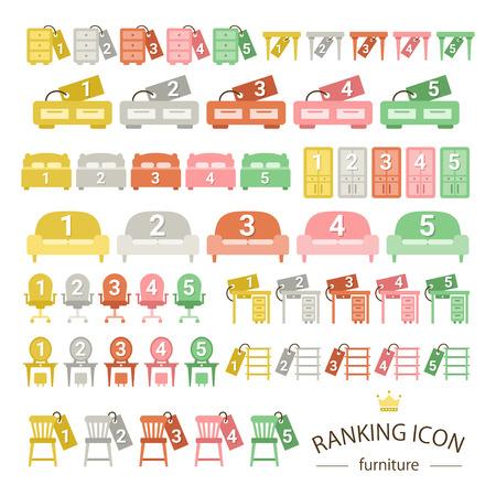 Furniture ranking icon sets