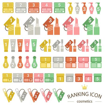 Cosmetics ranking icon sets