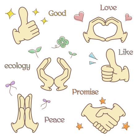 wakaba: Hand fingers illustrations