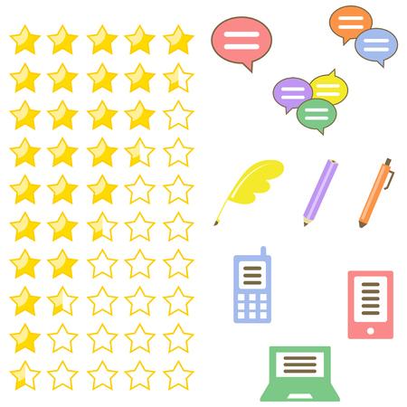 reviews: Reviews icon set
