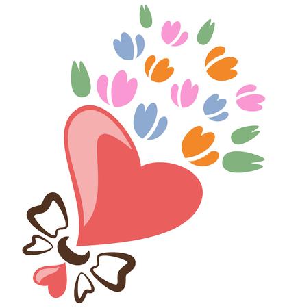 Tulip bouquet, vector illustration.
