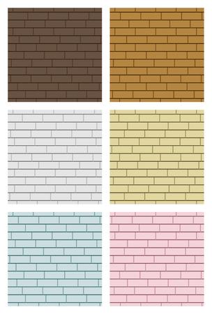 Brick background set, vector illustration.