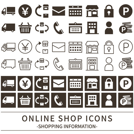 Shop online icon set.