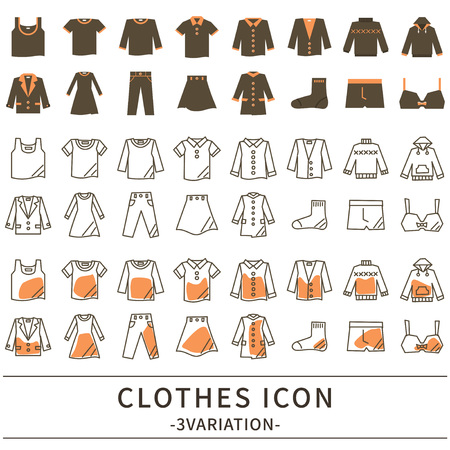 Fashion icon set Illustration