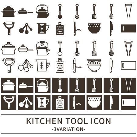 Keuken gereedschap iconen ingesteld