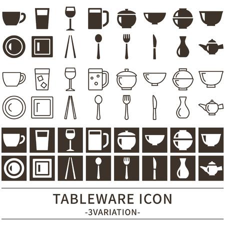 Kitchen icon set vector illustration.