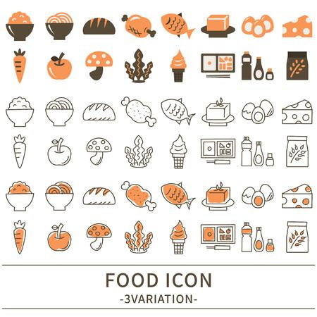 食品アイコンは、ベクター グラフィックを設定します。