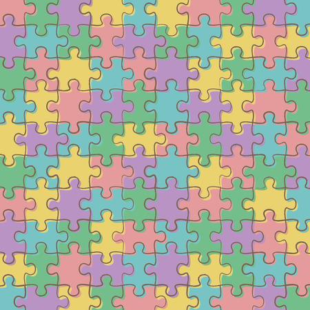 Jigsaw background pattern
