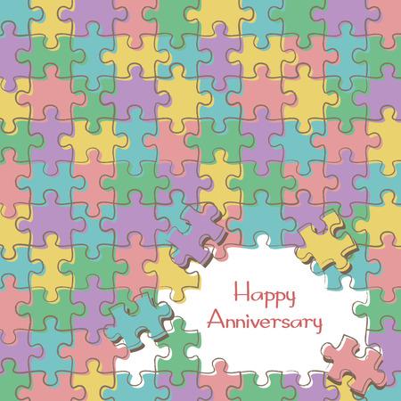 Jigsaw background template Vektorové ilustrace