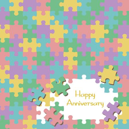 Jigsaw background template