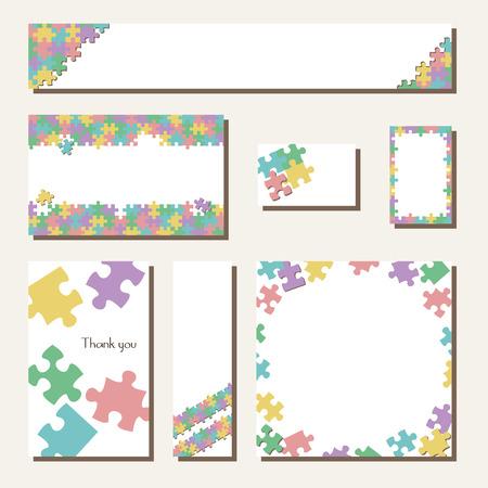 Jigsaw banner card template