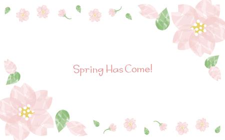 Watercolor cherry blossom background Vettoriali