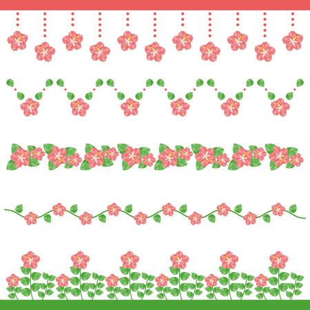 Watercolor hibiscus line Ilustração
