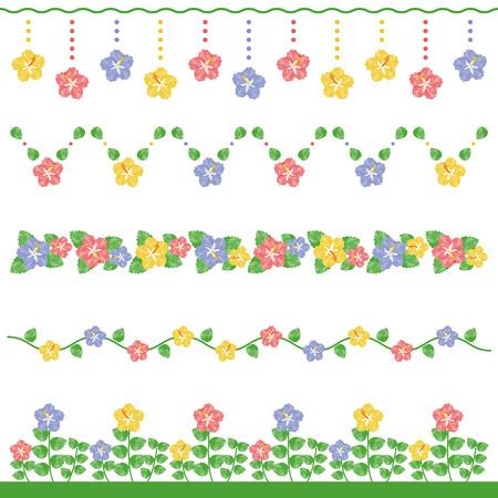Watercolor hibiscus line 写真素材 - 119206680