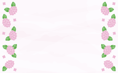 Watercolor hydrangea background Ilustração