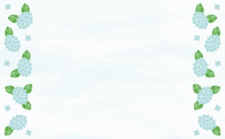 Watercolor hydrangea background  イラスト・ベクター素材