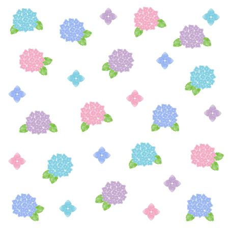 Watercolor hydrangea illustration set