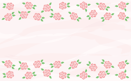 Watercolor roses background Ilustração