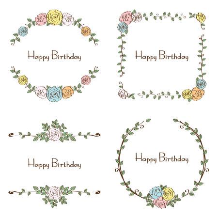 floral birthday celebration set