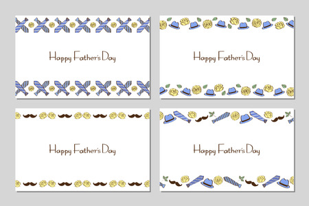 Fathers Day line style card set