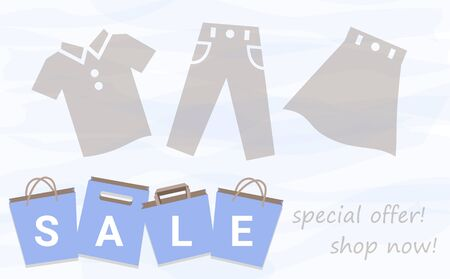 Sale Shopping Bag Watercolor Background