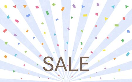 Sale Confetti Background