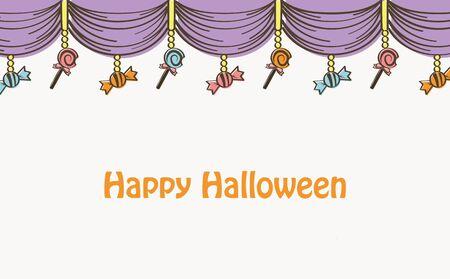 Halloween Curtain Background Stock Illustratie