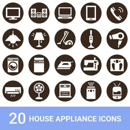 Product Icon Household Appliances White Pulling Out 20 Sets