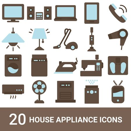 Product Icon Household Appliances Color 20 Sets