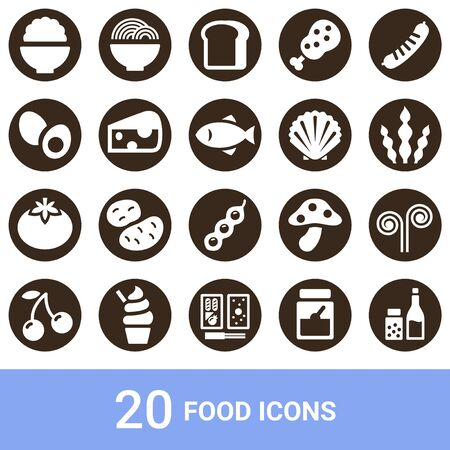 Product Icon Food White Pulling out 20 sets
