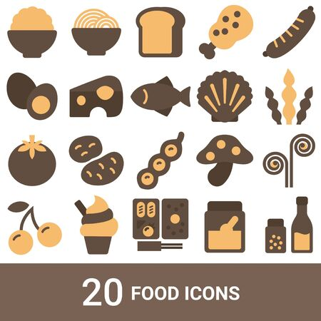 Product Icon Food Color 20 Sets