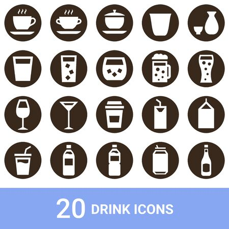 Product Icon Drink White Without 20 Sets