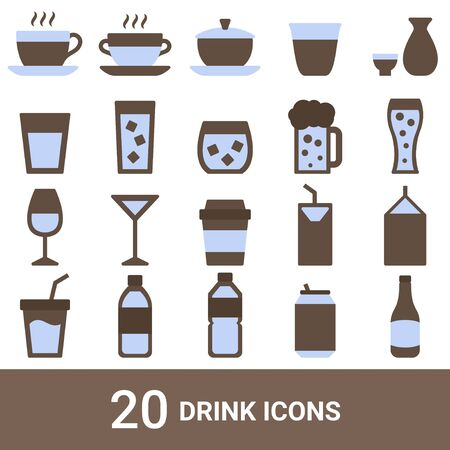Product Icon Drink Color 20 Sets