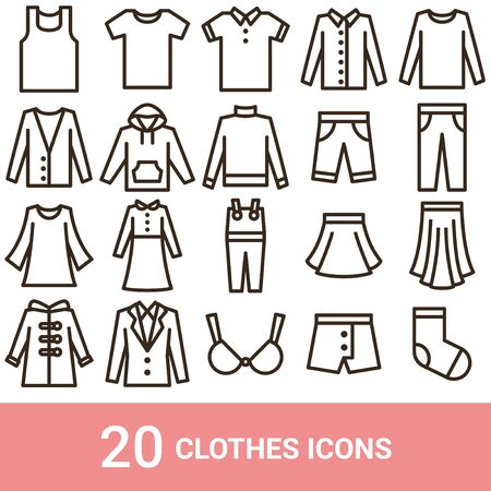 Product Icon Fashion Line 20 sets