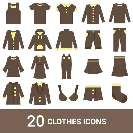 Product Icon Fashion Color 20 Sets