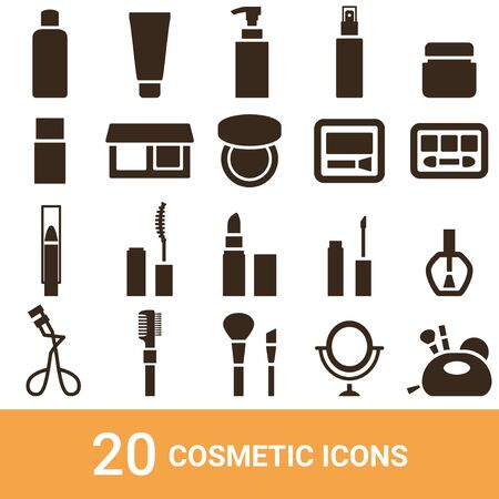 Product Icon Cosmetic Silhouette 20 sets 写真素材 - 130324825
