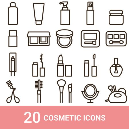 Product Icon Cosmetic Line 20 sets