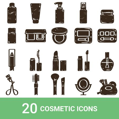 Product Icon Cosmetics Handwriting 20 sets